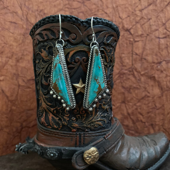 Baja Turquoise hooked earrings with a little bit of sass