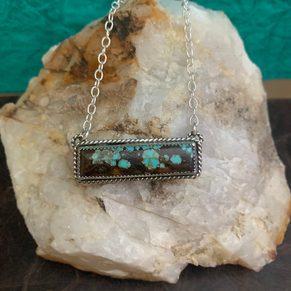 Lovely # 8 Turquoise Bar necklace