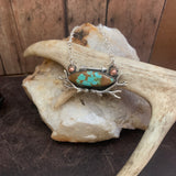 # 8 Turquoise Bar Necklace with antlers