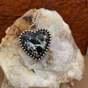 Iron Buffalo Heart Necklace
