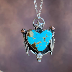 Turquoise heart Sterling Silver Necklace