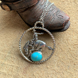 Bronc rider Rodeo necklace