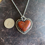 Lovely Red jasper heart Necklace