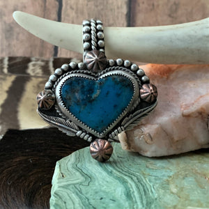 Kingman Heart Sterling Silver Necklace.