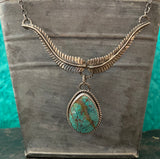 Vanessa Rose necklace with Turquoise pendant