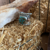 Wide Band Turquoise ring Size 10.5