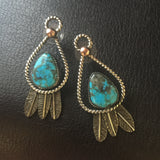 Sterling Silver feather Post Earrings
