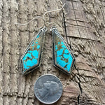 Sterling Silver Statement Baja Turquoise Earrings