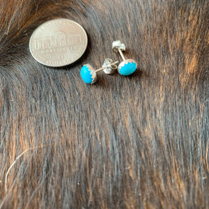 Sterling Silver Kingman Turquoise Stud  post earrings