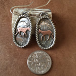 Tiny copper mules earrings