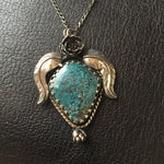 Sterling Silver Angel with Cloud Mountain Turquoise