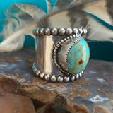 Wide Band Turquoise ring Size 11