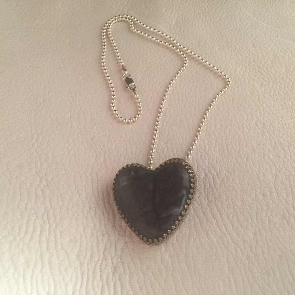 Picasso Marble Heart Necklace
