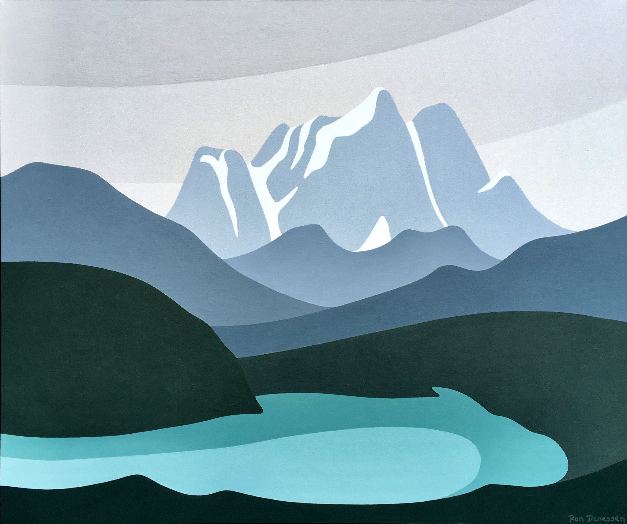 """Emerald Lake"" (after Lawren Harris)"