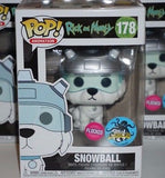 Rick & Morty Snowball LACC Exclusive POP! [Flocked]
