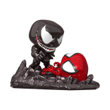 Marvel Comic Moment Venom vs. Spider-Man Metallic Pop! Vinyl Figure 2-Pack - Previews Exclusive
