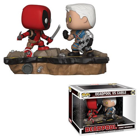Marvel Comic Moment Deadpool VS Cable Pop! Vinyl