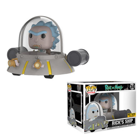 RICK AND MORTY POP! RIDES RICKS SHIP HOT TOPIC EXCLUSIVE