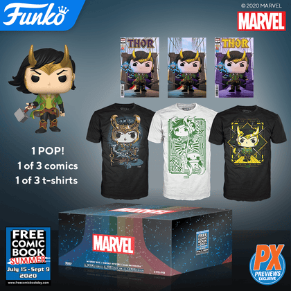 Marvel Funko Loki Pop! Mystery Box - Free Comic Book Summer 2020 - Previews Exclusive
