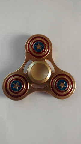 Fidget Spinner Captain America (Gold)