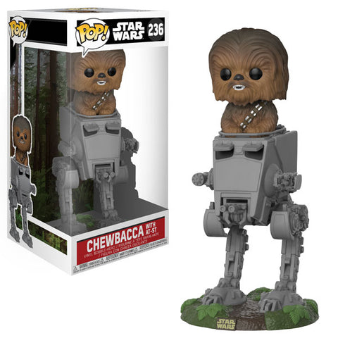 Star Wars Chewbacca in AT-ST Deluxe Pop! (VAULTED)