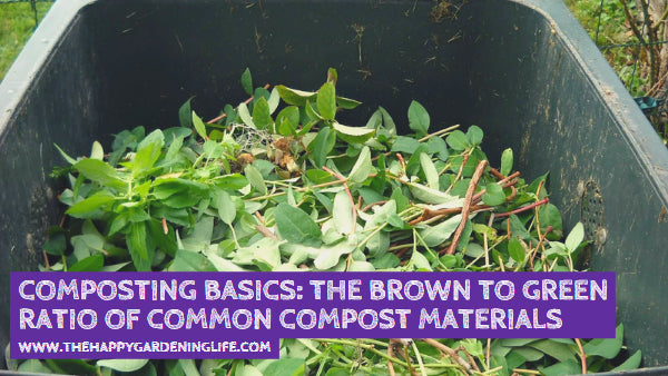 Composting Basics: The Brown to Green Ratio of Common Compost Materials