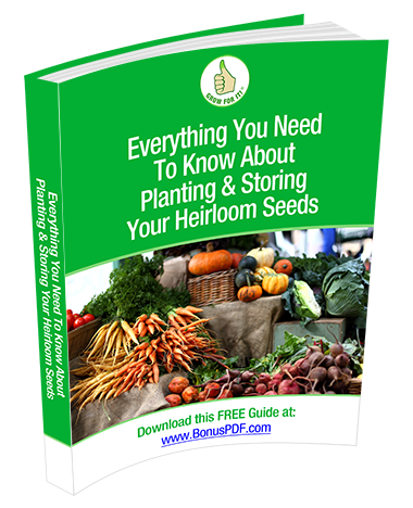 50 varieties heirloom vegetable seeds pack planting and storing guide - image