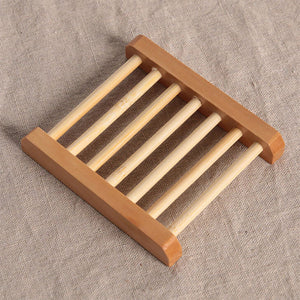 1PC Holder Natural Wood Soap Tray Holder Dish