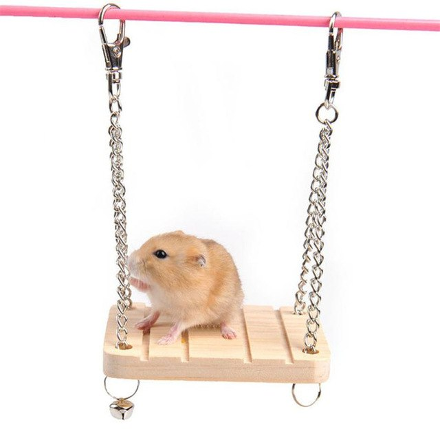 1PC Wood Hamster Wood Hammock Play Toy Small Pet