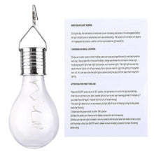 Load image into Gallery viewer, 5 LEDs Waterproof Environment Friendly Hanging LED Lamp With Solar