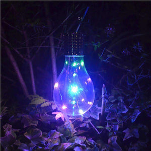 5 LEDs Waterproof Environment Friendly Hanging LED Lamp With Solar