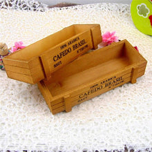 Load image into Gallery viewer, 22cm Vintage Wooden Storage Box Flower Bonsai