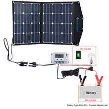 Load image into Gallery viewer, ACOPOWER LTK 80W Foldable Solar Panel Kit Suitcase