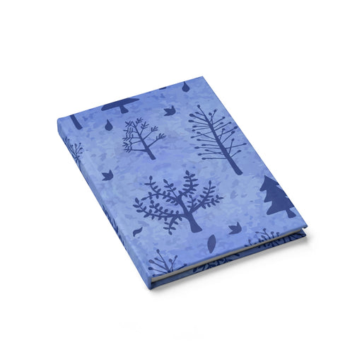 Winter Trees Journal Blank - Blue