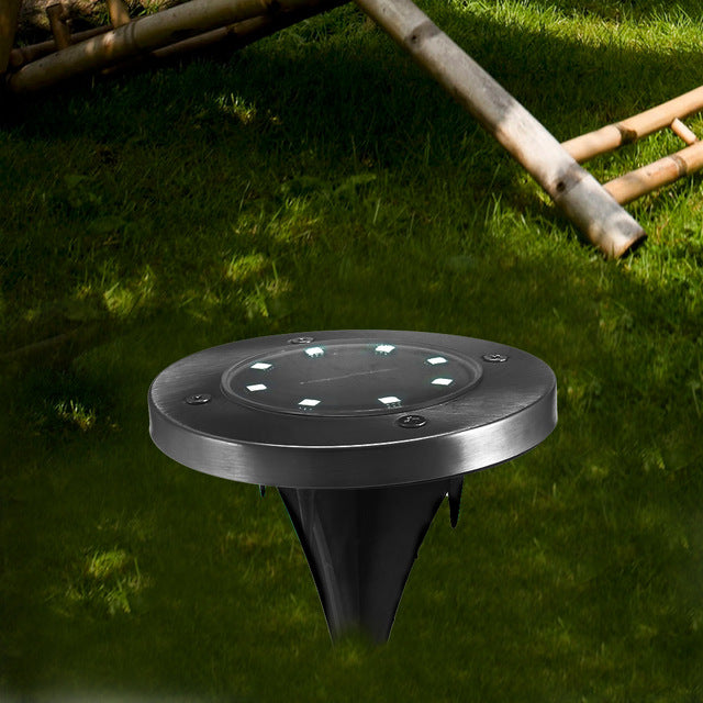 8 LEDs Solar Powered Light IP65 Waterproof Ground
