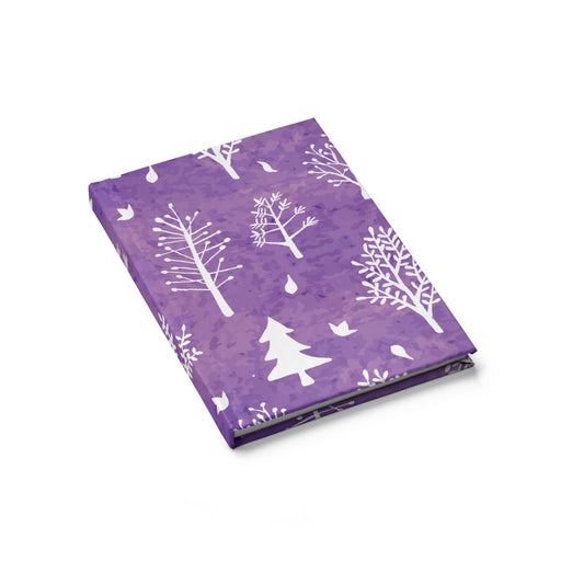 Winter Trees Journal Blank - Purple
