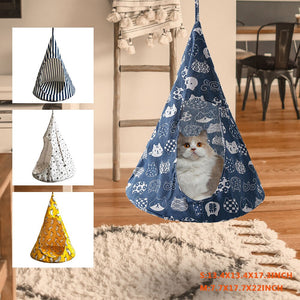 Cat Tent Hammock Hanging Bed Tent Cone Shape