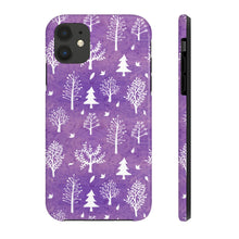 Load image into Gallery viewer, Winter Trees Tough Phone Cases - Purple