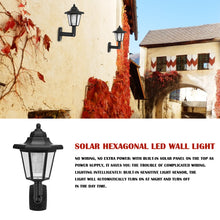 Load image into Gallery viewer, 2pcs Waterproof Solar LED Hexagonal Wall Lamp