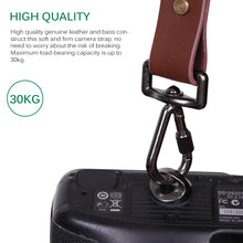 Load image into Gallery viewer, Genuine Leather Camera Shoulder Strap Adjustable