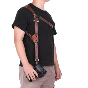 Genuine Leather Camera Shoulder Strap Adjustable