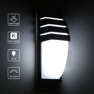 8W LED Waterproof Wall Light  Cool White Lamp