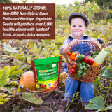Heirloom Vegetable Seeds Bulk Pack - 50 Varieties
