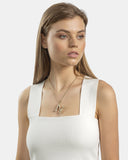 Kitte Bambu Initial Necklace Gold.