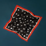 Frankie Peach 'Queen of Hearts' Classic Square Scarf