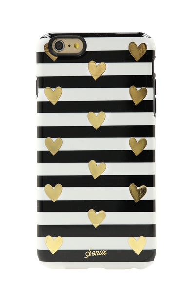 sonix case for iPhone 6/6S Plus - 'heart stripe' - gold