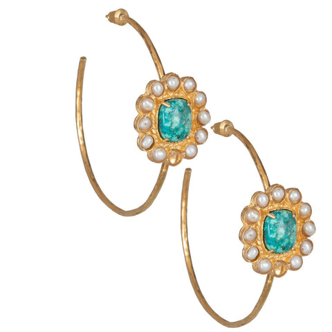 Christie Nicolaides Claudia Hoops - Turquoise