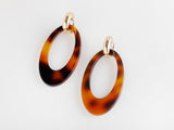 Valet Camille Earrings - Tortoise