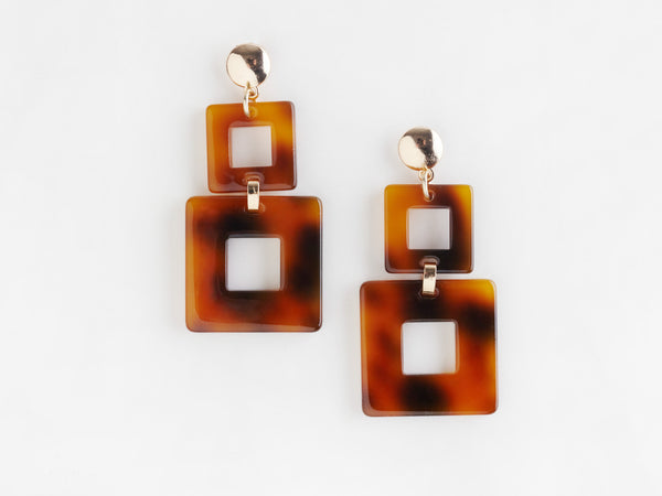 Valet Toucan Earrings - Tortoise