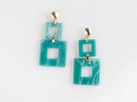 Valet Toucan Earrings - Aqua